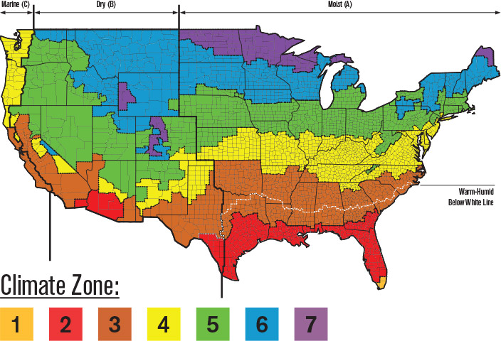 Ashrae Climate Zone Map Sustainability   Atlas Roof Insulation